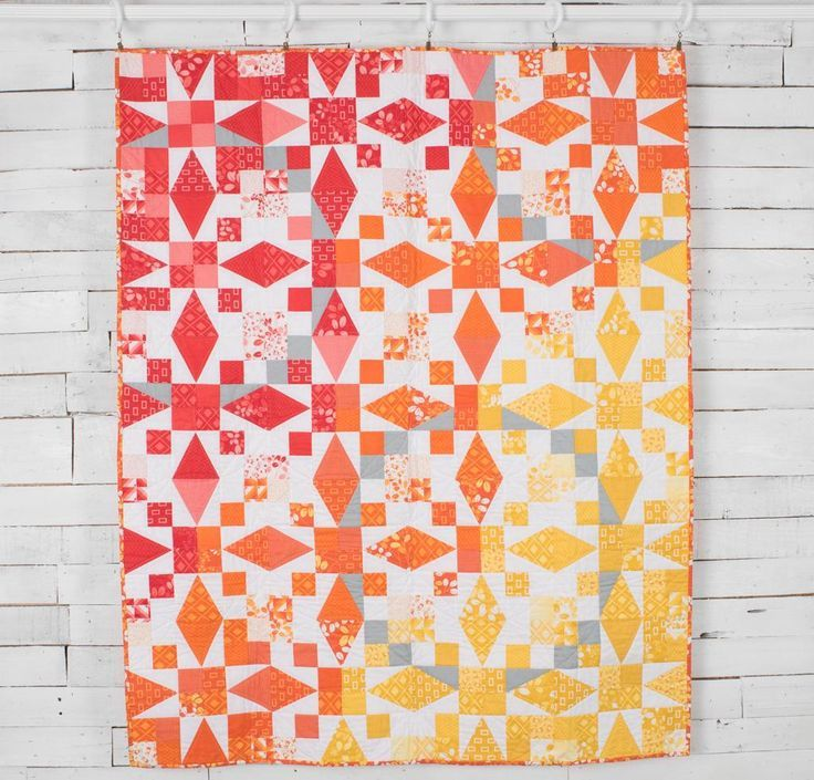 Moda Simply Colorful Sunrise Quilt  - White
