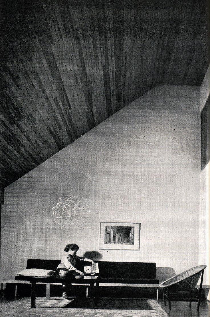 thechemistryset:  Living room of Siren House and Office, Kaija and Heikki Siren, Lauttasaari, Helsinki, c. 1960s.