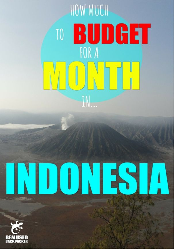 Planning a trip to Indonesia? Let me help you with this easy guide to planning a budget for a month long trip.