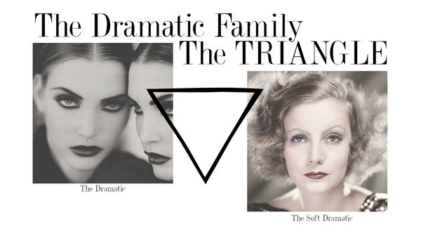 The Platonic Shape for the Dramatic Family is the Diamond. Within this family, there are two Style Archetypes: The Dramatic and The Soft Dramatic.