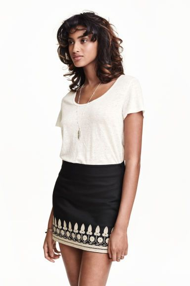 Embroidered skirt | H&M