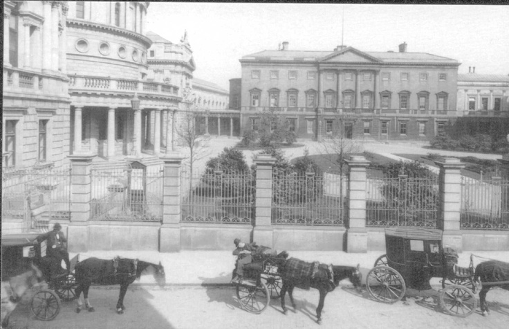 Cabs outside the National Library of Ireland