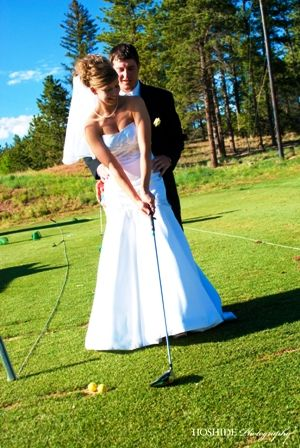 Cute golf course wedding photo! I'm sure this will be a photo of Pete and I, LOL