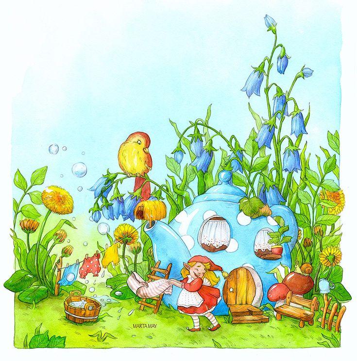 Марта Май. Детские иллюстрации, добрые картинки. | VK