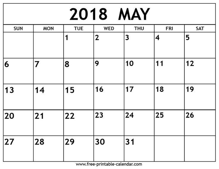 Más de 25 ideas únicas sobre May 2018 calendar en Pinterest ...