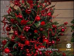 red decorated tree