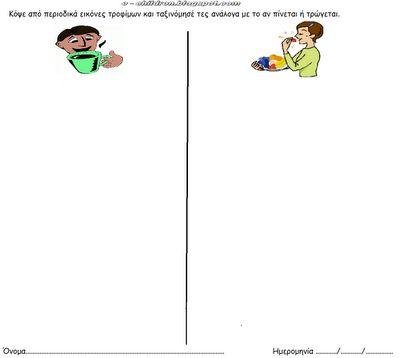ΠΑΙΔΙ & ΜΑΘΗΜΑΤΙΚΑ : Ταξινομήσεις στην Υγιεινή Διατροφή ~ Los Niños