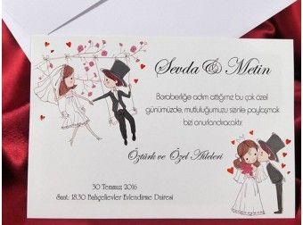 Invitatie de nunta cu miri - cod IC485