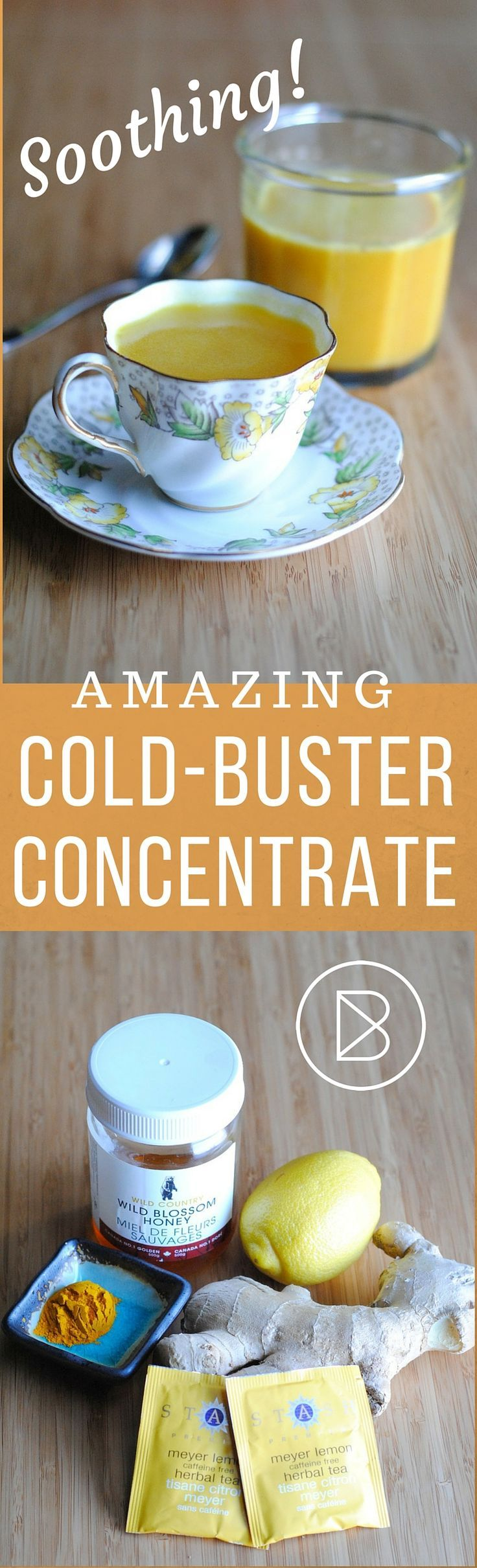 "This concentrated cold-buster is a great non-medical alternative to theraflu, lemsip or neocitrin. It really helps soothe a sore throat. You can easily ""veganize"" it by replacing the honey with maple syrup. Stay healthy! - Jasmine"