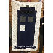 Ravelry: FREE Basic Tardis Blanket pattern by Heidi Ross is Tulipstitch