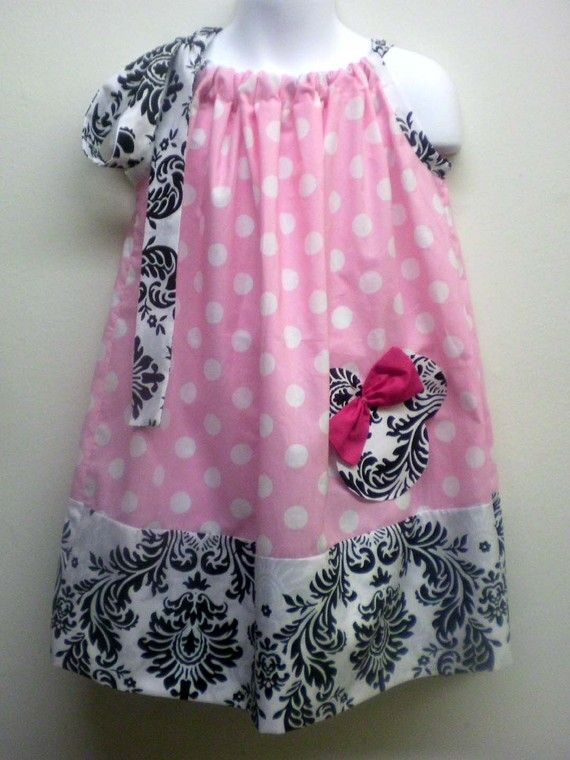 Pink Polka Dot Minnie Damask Pillowcase Dress by midtowndoll $28.00 & 1469 best Pillowcase Dresses Etc images on Pinterest | Pillowcase ... pillowsntoast.com
