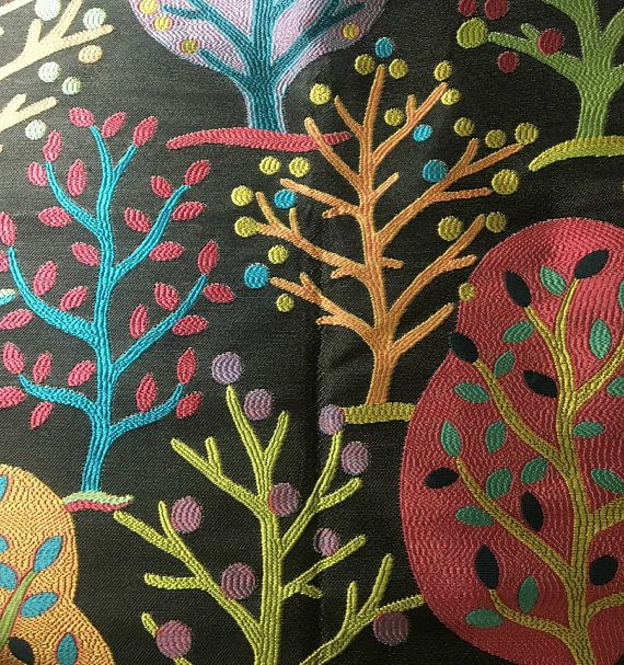 You will receive as pictured:  - 2 PIECES fabulous heavy woven designer fabric by Carlton House. Discontinued pattern called Field of Dreams, color is Ebony.  - Measures 26 x 26 inches there are TWO  - Content is 100% polyester  - Soil stain repellent  - Exceeds 30,000 double rubs (stress/durability test for fabrics)  - Clean, unused showroom sample.   - Please remember computer monitors may vary in color presentation   I will combine shipping for multiple purchases and any overcharge of...