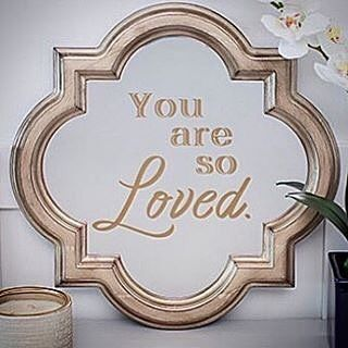 "#Golden saying! #cricutmade #nursery #babyshower #mirror #decorate #gold #create #cricut #love #handmade #wedding #etch #personalize #art #frame #beautiful : @littletreasures_97 To help with self-esteem issues, I can imagine having this in many places besides a nursery...how about a girls' dorm?   To send a message. ..how about on a full length mirror before a wedding?   Or as a reminder to love others. ..""we love,  because HE first loved us!"""
