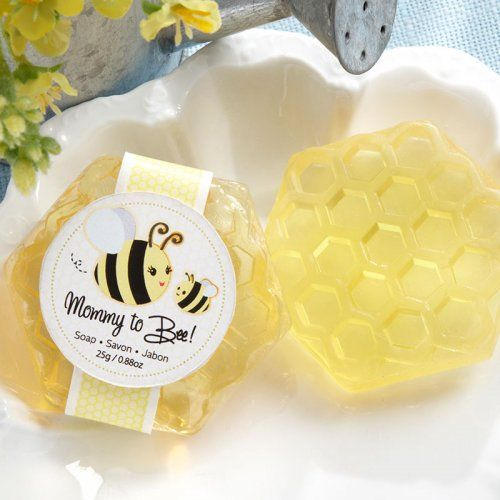 """This """"Mommy To Bee"""" honeycomb soap is sure to give guests something to buzz at your upcoming baby shower."""