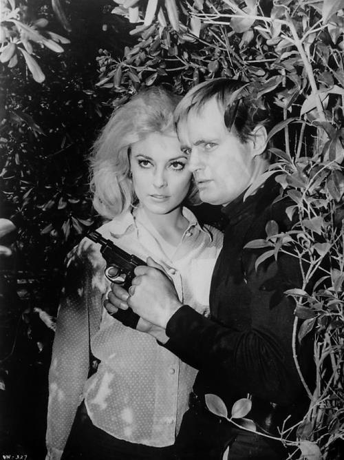 #Sixties   David McCallum and Sharon Tate, The Man from U.N.C.L.E.