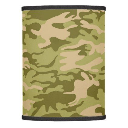 military camouflage lamp shade - pattern sample design template diy cyo customize