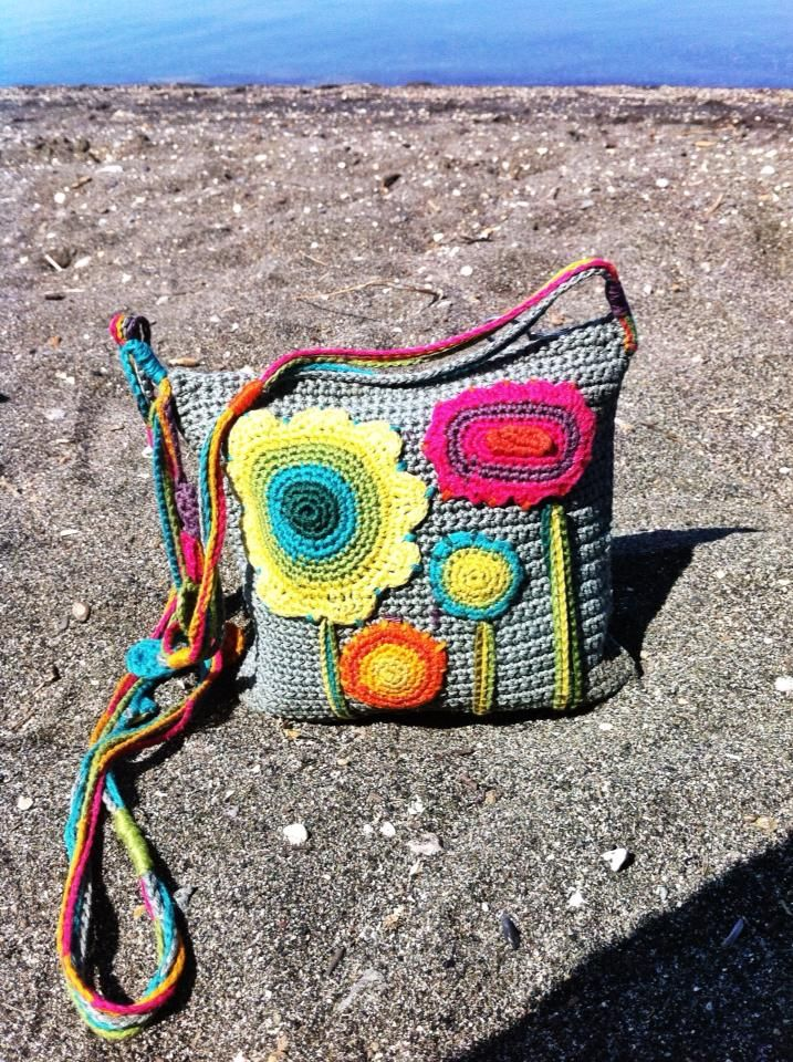 borsetta di cotone ad uncinetto