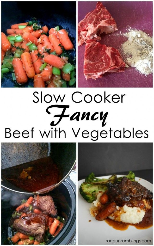 Crock Pot Fancy Beef for Two (or more