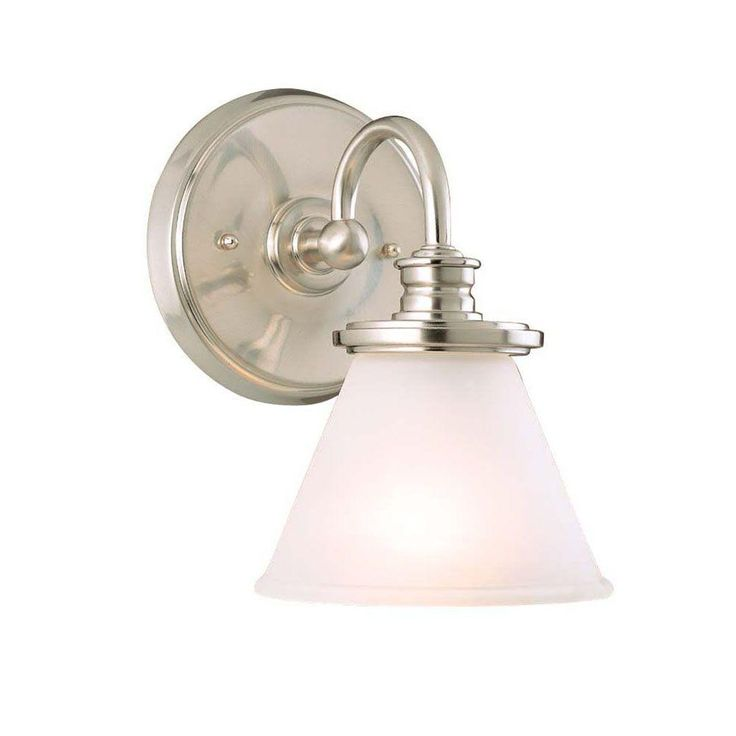 Hampton Bay Brushed Nickel One Light Wall Sconce CBX8411 SC 1 At