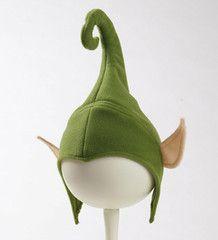 "Elf Hat Pattern  Download pdf  Materials:  1/4"" sponge fleece felt You Will Also Need:  sewing machine scissors pins"