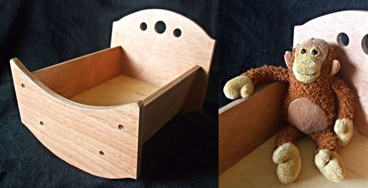 wooden dolls cradle