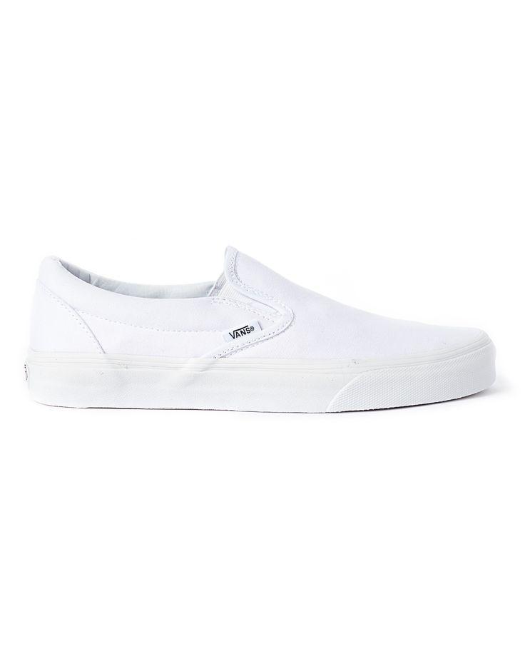 Vans Slip-On Plimsolls in White for Men
