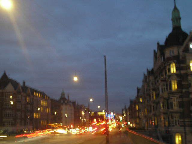 Evening street view
