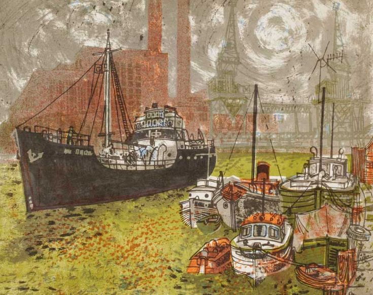 Poole Harbour, from Portrait of Dorset: The South-East (1960), by Rena Gardiner