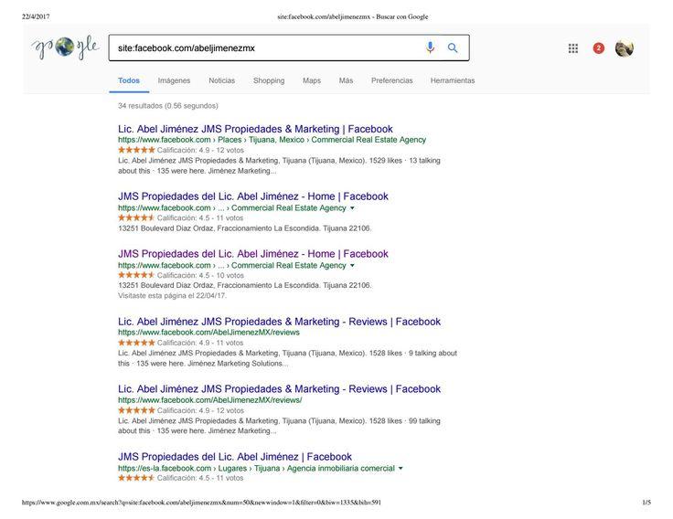 Facebook index by google account AbelJimenezMX smo search engine optimization and social media optim