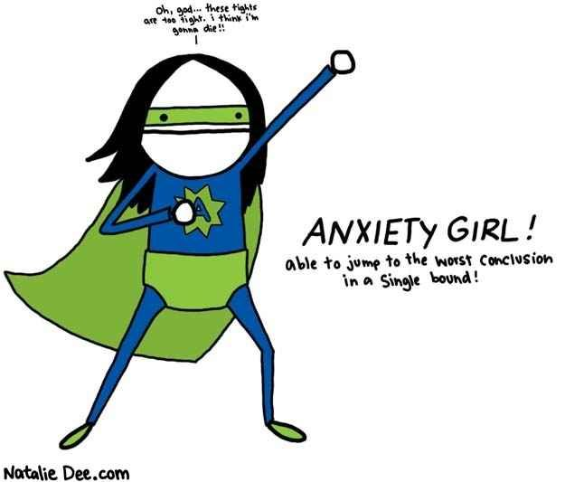 The seemingly superhuman power our minds has over us. | 24 Comics That Capture The Frustration Of Anxiety Disorders
