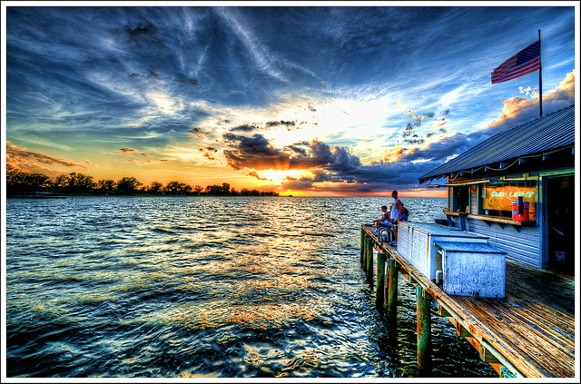 Anna Maria Island Pier Sunset By Tebographics Via Flickr