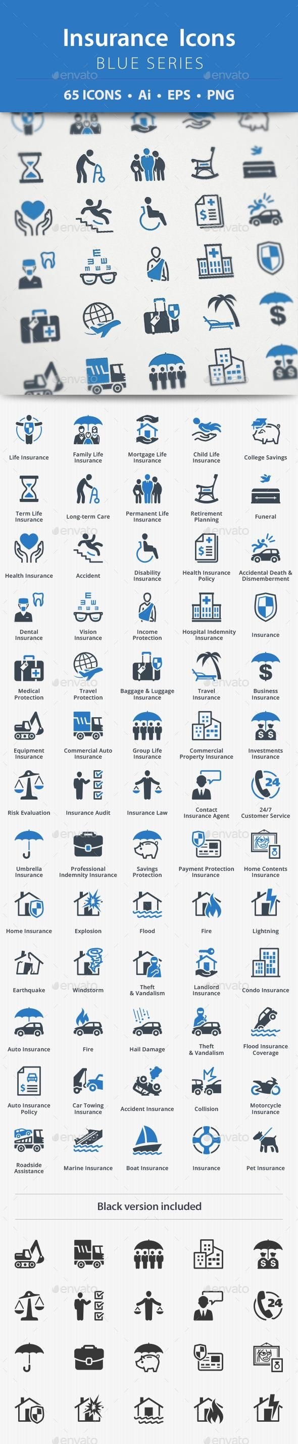 Insurance Icons - Blue Series