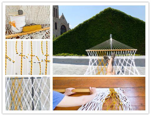 How to make nice hammock chair step by step diy for Diy macrame hammock