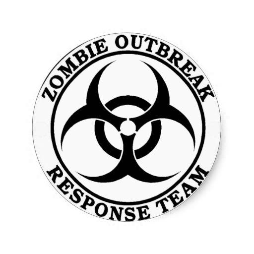 Zombie Outbreak Response Team (Biohazard) Stickers