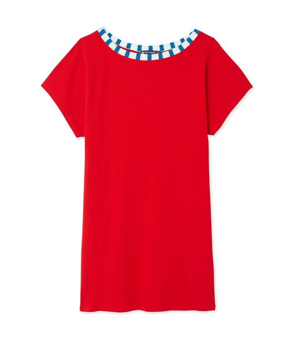 Robe tee-shirt femme Petit Bateau rouge