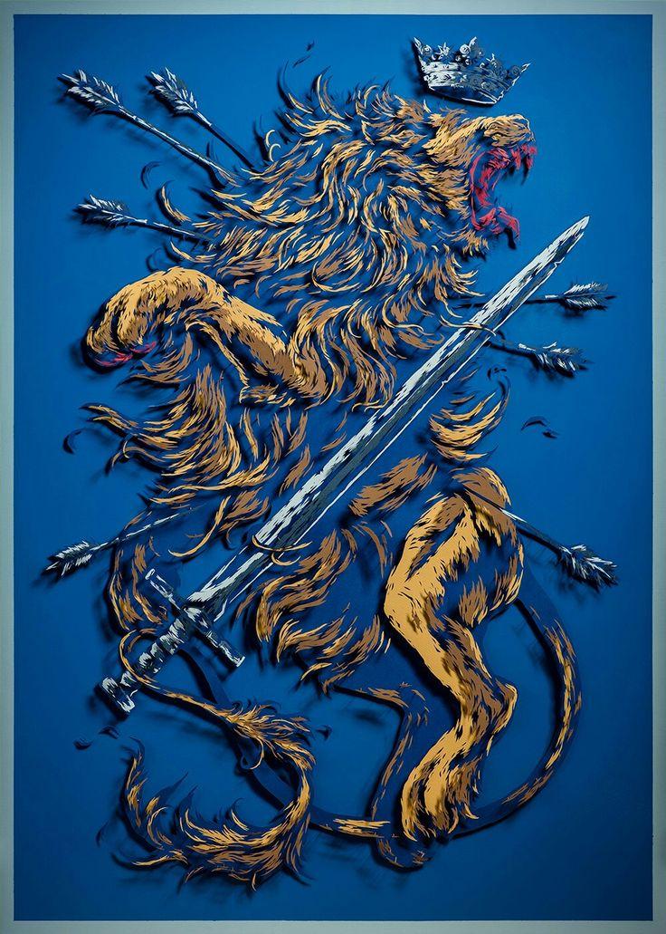 Símbolo heráldico da casa Balfax. Muitos questionam seu real significado: enquanto o leão representa coragem e nobreza, está sendo morto por uma espada e flechas, símbolos da liberdade e purificação. Como a casa Balfax é uma casa nova, muitos atribuem isso à falta de conhecimento heráldico por parte de seus líderes.