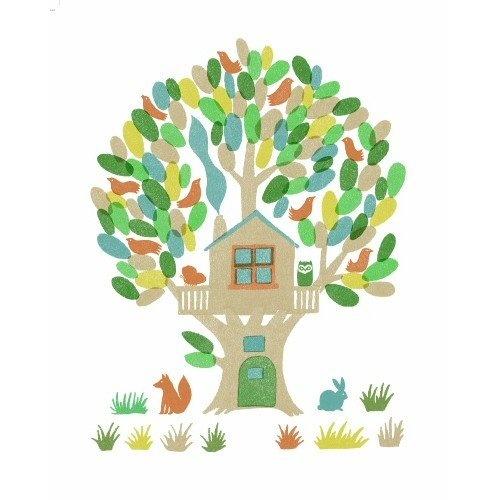 Sukie - zeefdruk poster Treehouse - Papiermier