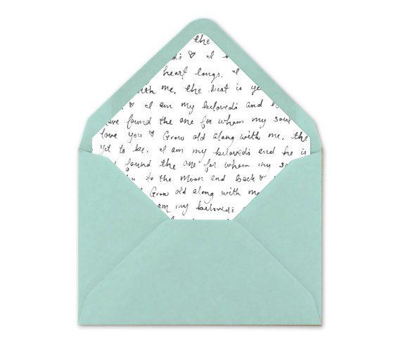 Printable Envelope Liner. Wedding Envelope Liner by BlushedDesign
