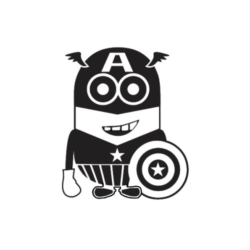 Despicable Me Minion Captain America Laptop Car Truck Vinyl Decal Window Sticker PV144
