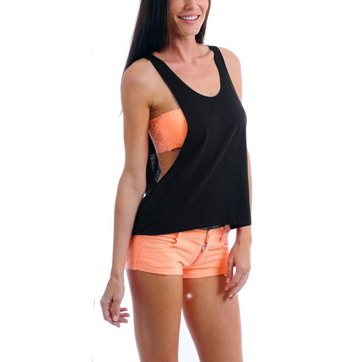 2016 Women's Sexy Sleeveless Solid Open Side Tank