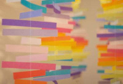 DIY Colorful Mobiles (from Blush Ink) and 42 other DIY Wedding Projects For The Budget Bride | The Wedding Blog