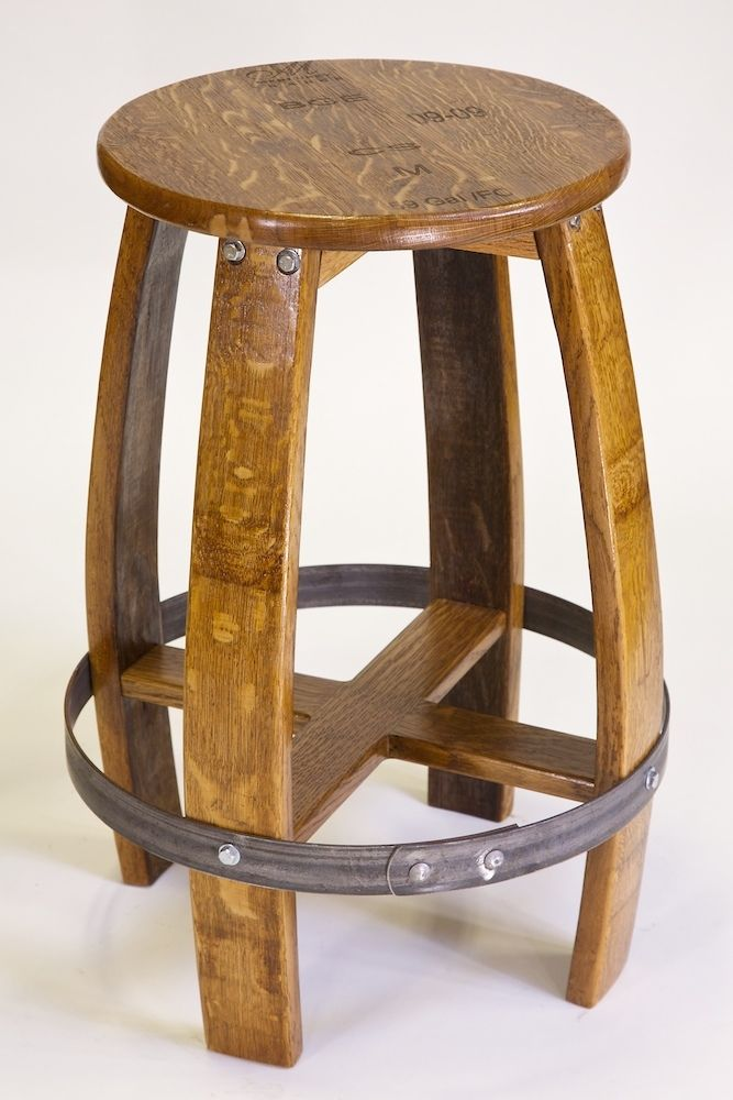 Wine Barrel Bar Stool Plans Woodworking Throughout Stools