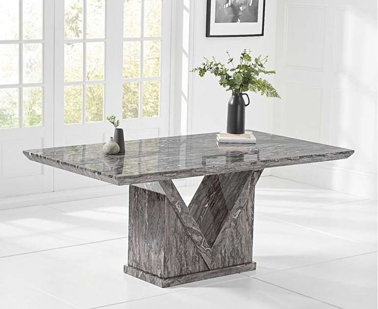 Rhodes 160cm 180cm Grey Marble Dining Table 160cm 180cm Dining Grey Marble Marble Table Dining Rh Dining Table Marble Marble Dining Grey Dining Tables