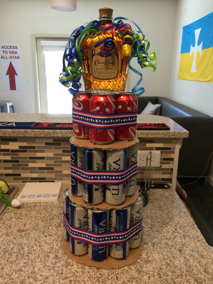 DIY Alcohol Cake Tower Diy alcohol gifts, Alcohol cake