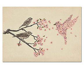 "Grafika na plátně ""Blossom"""