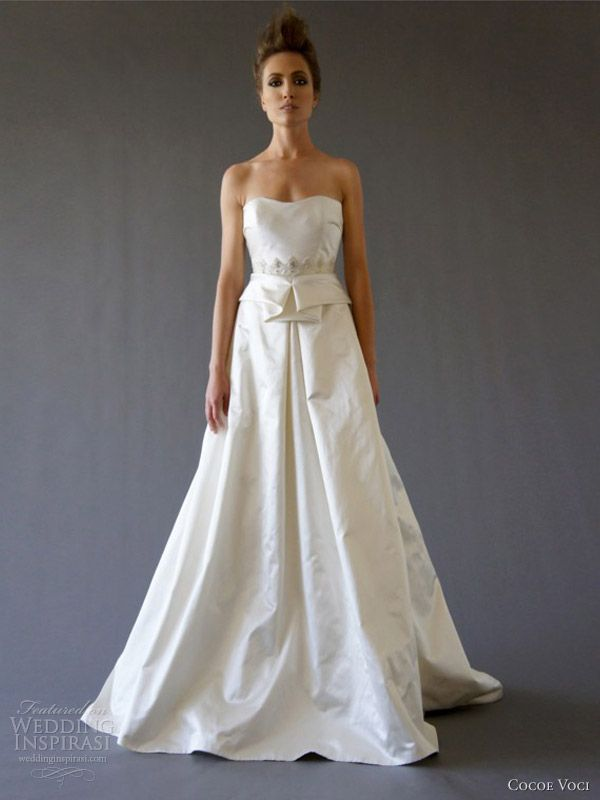 cocoe voci wedding dresses fall 2012 phoebe strapless gown