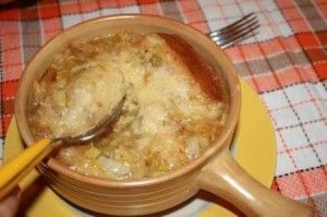 Zuppa cipolle all'italiana