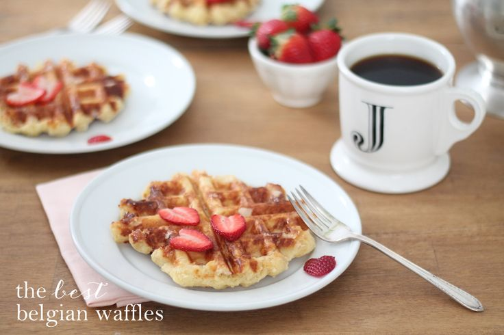 The best Belgian waffle recipe - hands down! Click for the recipe. julieblanner.com