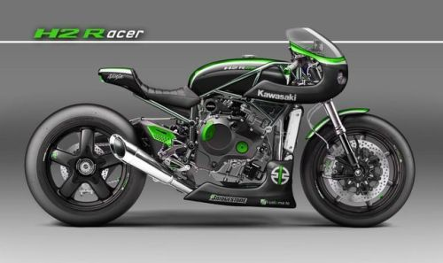 Kawasaki H2R Cafe Racer Concept by KUSTOMEKA #motorcycles #caferacer #motos | caferacerpasion.com