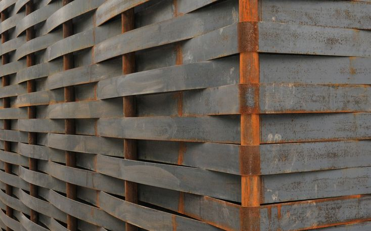 steel weaving wall facade